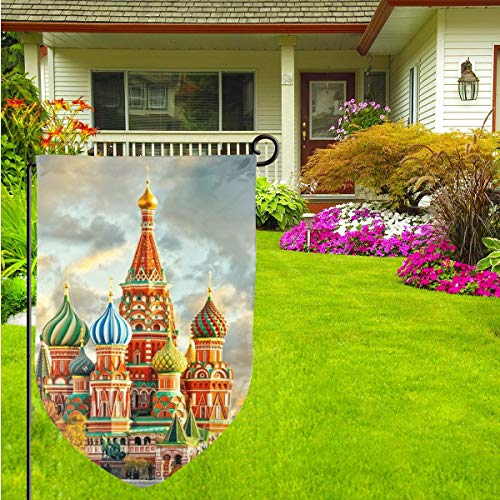 Kjaoi Holiday Yard Garden Flag - Red Square Moscow Double Sided Front Door Flag Decorative Home Flag 12.518 Inch]()