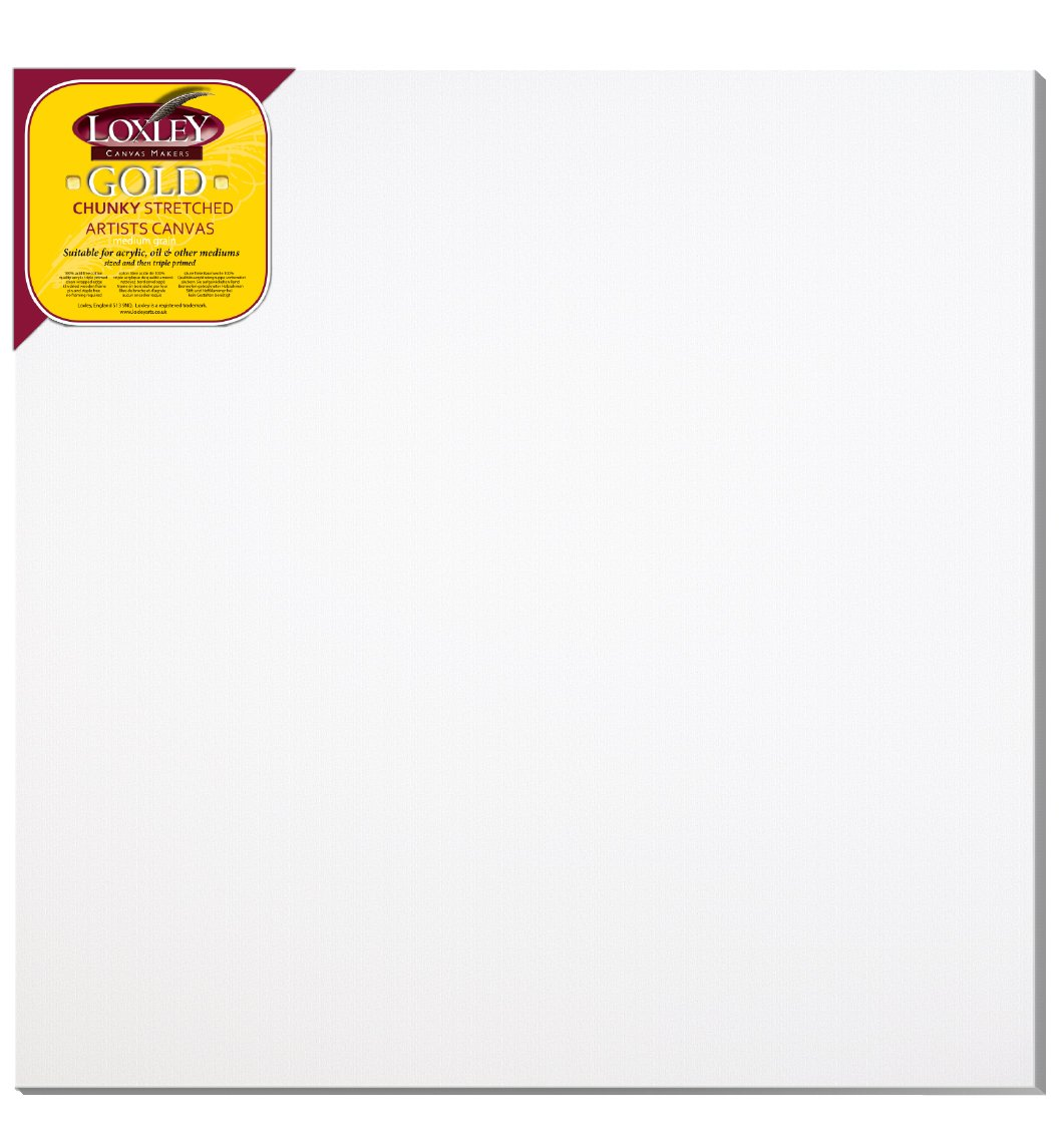Loxley Gold 40 x 40-inch 102 x 102 cm 37mm Large Square Chunky Deep Edge Artist Quality Stretched Canvas Primed LCC-4040