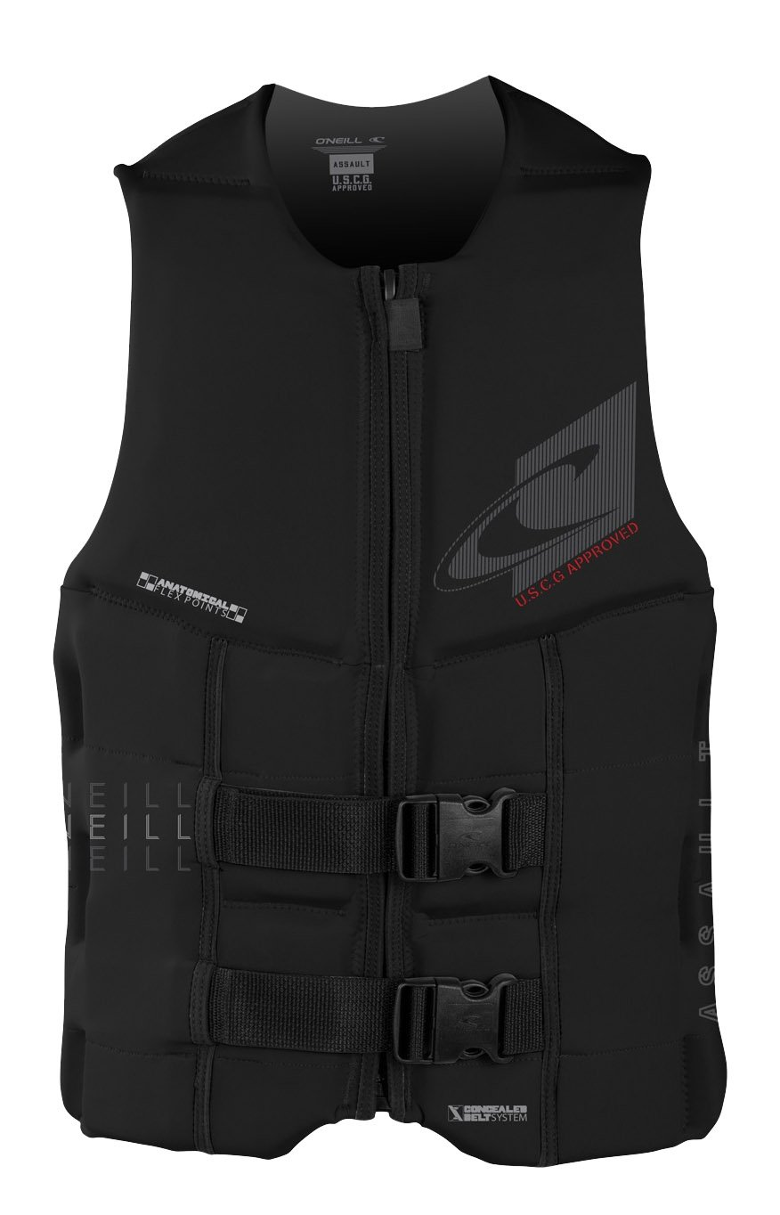 O'Neill  Men's Assault USCG Life Vest, Black,3X-Large