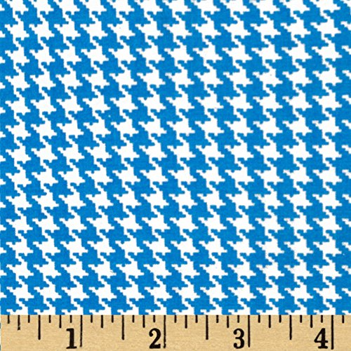 Santee Print Works Spotlight Houndstooth Turquoise/White Fabric Fabric by the Yard ()