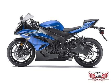 VITCIK Calcomanías para Motos, Adhesivo para Moto ZX6R ZX-6R ...