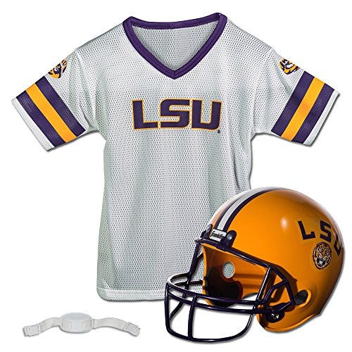 Franklin Sports NCAA Louisiana State (LSU) Tigers Youth Helmet and Jersey Set
