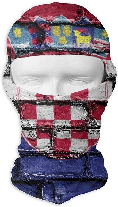 Croatia Flag Banner Bricks Wall Outdoor Cycling Ski Motorcycle Balaclava Mask Sunscreen Hat Windproof Cap At Amazon Men S Clothing Store
