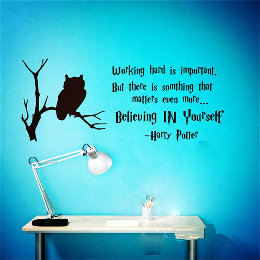Rtuyi Art Decor Inspiration Quote Wall Sticker Office Working Hard Believing Yourself