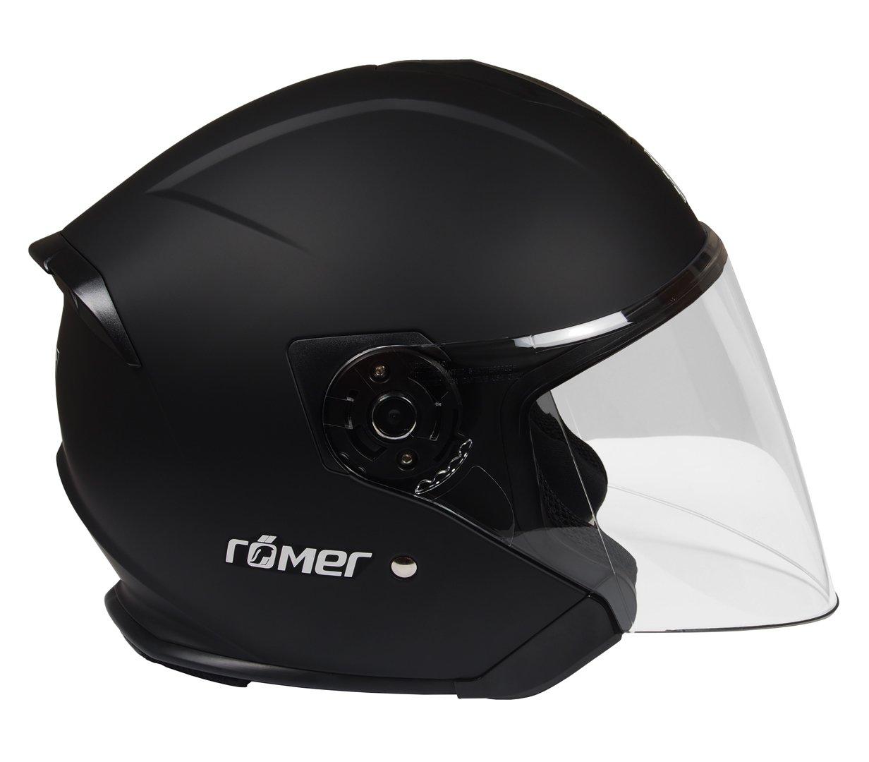R/ömer Helmets Motorradhelm Koblenz Gr/ö/ße S Silber Matt