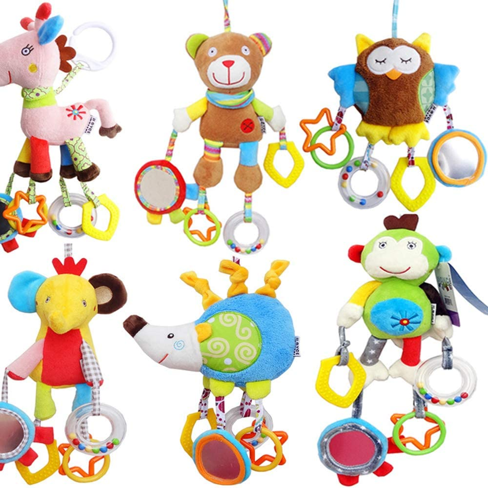 Fliyeong Clip on Pram Toys Baby Pushchair Windbell Toys Lion Creative and Useful