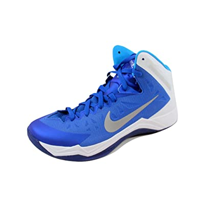 sports shoes 9d002 1b22a NIKE Men s Zoom Hyperquickness TB Game Royal Metallic Silver-White-Blue  599420-
