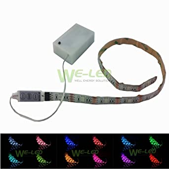 Suntec 5050rgb 45v battery operated 1m 394in rgb led strip lights suntec 5050rgb 45v battery operated 1m 394in rgb led strip lights waterproof craft lights aloadofball Gallery