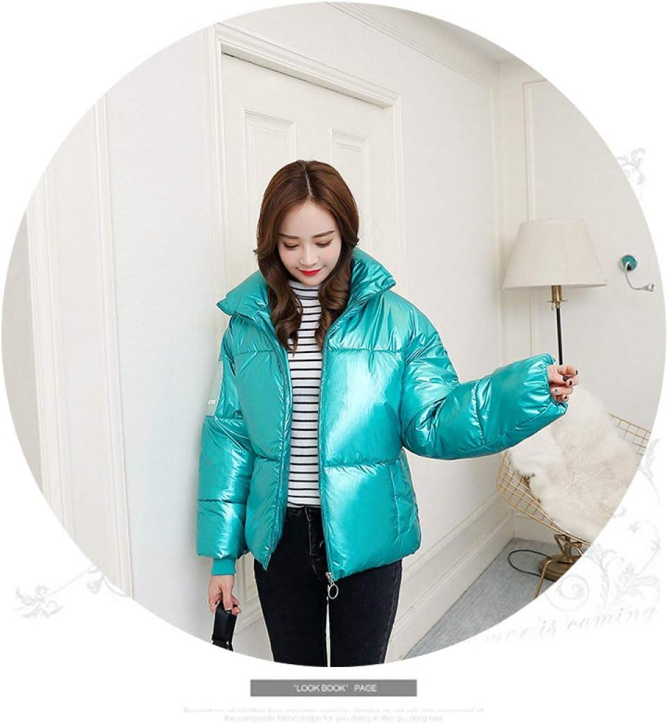 EIJFKNC Giacche Giù Giacca Invernale da Donna in Ecopelliccia con Cappuccio Cappotto Giacca Stile Europeo Invernale Collo Giacca Fortunato verde