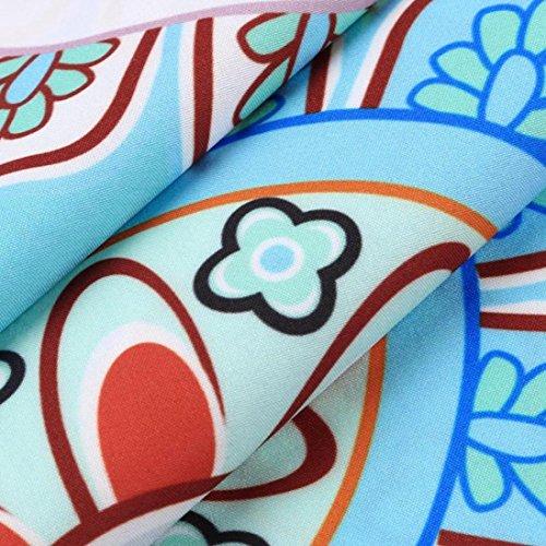 Bsgsh Women Vintage Boho Floral/feather/geometric Printed Sleeveless Summer Casual Dresses Blue | Femmes Bsgsh Floral Vintage Boho / Plume / Géométriques Été Sans Manches Imprimé Robes Décontractées Bleu | B B