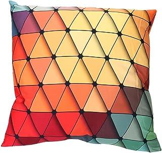 Viahwyt Super Cool Cushion Cover Couch 3D Rainbow Geometric Square Cushion Covers 45cm x 45cm Pillow Case For Sofa Car Restaurant Home Decor New Home Gifts Unique Design (A)