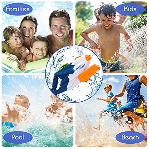 Koogel Wasserpistole Groß, 2 Pack Wasser Blaster mit 1200ml Kapazität Größer 12M Reichweite für Kinder Erwachsene Geschenk Spielzeug Sommer Pool Party