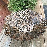Metal wall Art Modern abstract sculpture home decor bowl by Holly Lentz