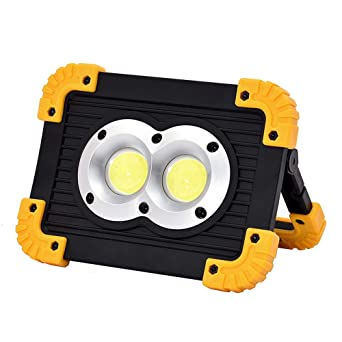 Lixada DC3.7-4.5V 20W COB LED Rechargeable Work Light Emergency Lamp 4