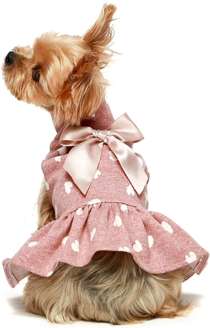 Fitwarm Pet Clothes for Dog Dresses Puppy Turtleneck Dress Doggie Outfits Birthday Party Costumes