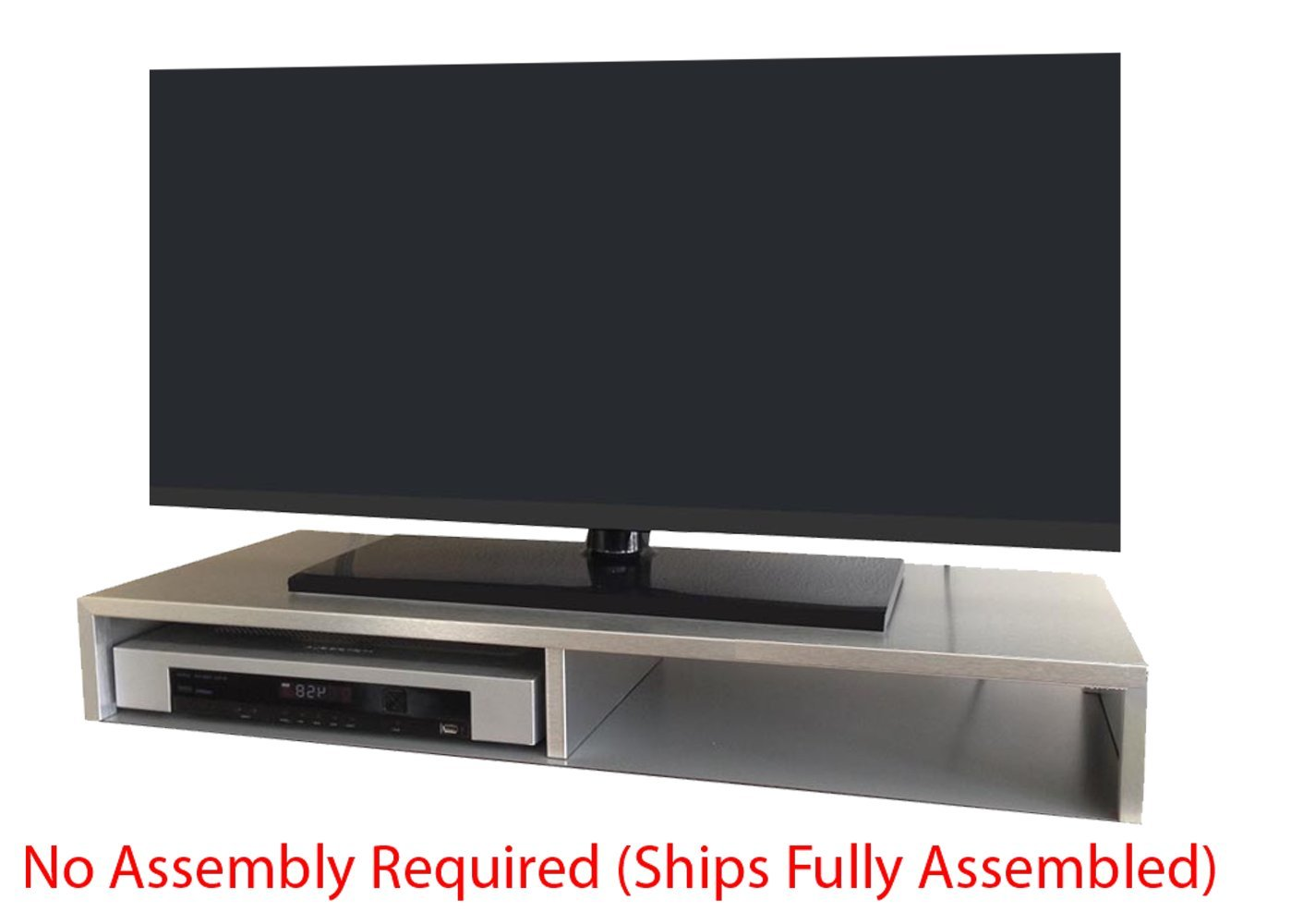 Amazon Com Rizervue Tv Stand For Flat Screen Brushed Aluminum