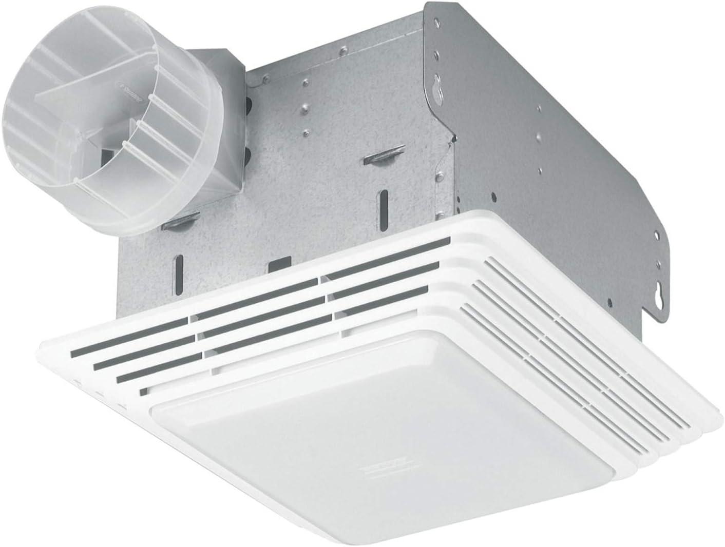 Broan Nutone Hd80l Heavy Duty Ventilation Fan Combo For Bathroom And Home 100 Watt Incandescent Light 80 Cfm Matte White Bathroom Fans Amazon Com