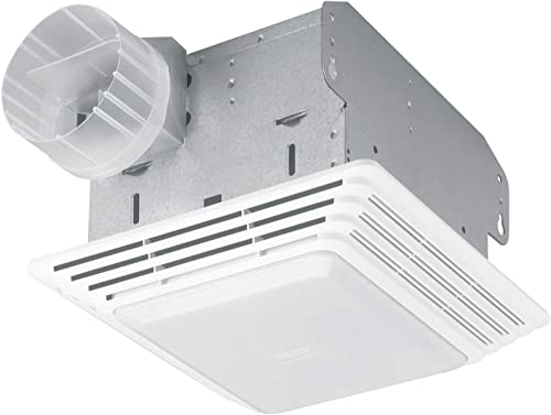 Broan-NuTone HD80L Heavy Duty Ventilation Fan Combo for Bathroom and Home, 100-Watt Incandescent Light, 80 CFM, White