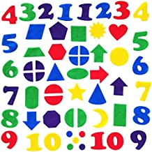 Felt Numbers & Geometric Shapes 144 piece set for Felt Board Early Learning by Wildflower Toys