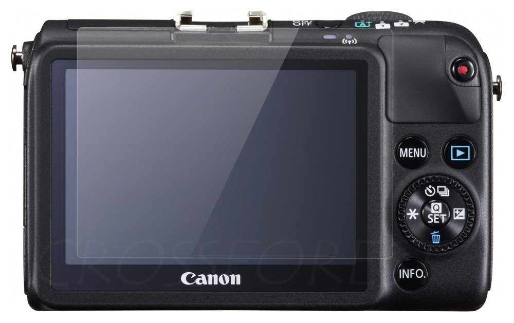CROSSFOREST Glass Screen Protector for Canon EOS M2/M   Round Edge   CF-GCCEM