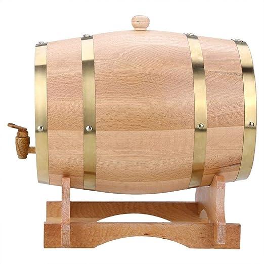 Barril de Vino de Madera de Roble Vintage Dispensador de Whisky Bourbon Tequila Ron (10L): Amazon.es: Hogar