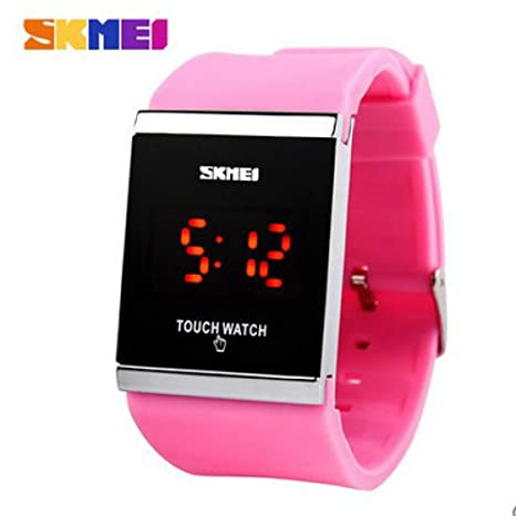 Watches Reloj Digital LED Touch Trendy Colorful, Reloj para Hombre, Reloj para Mujer,