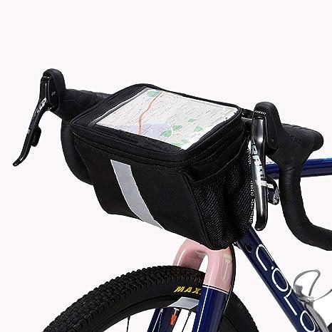 JHLD Maletas para Tapa Manillar Bolsa Bicicleta, Bolsa de Almacenamiento Aislamiento Gran Capacidad Impermeable para Montaña Ciclismo Carretera Bicicleta-Negro-15 * 17.5 * 24.5Cm: Amazon.es: Deportes y aire libre