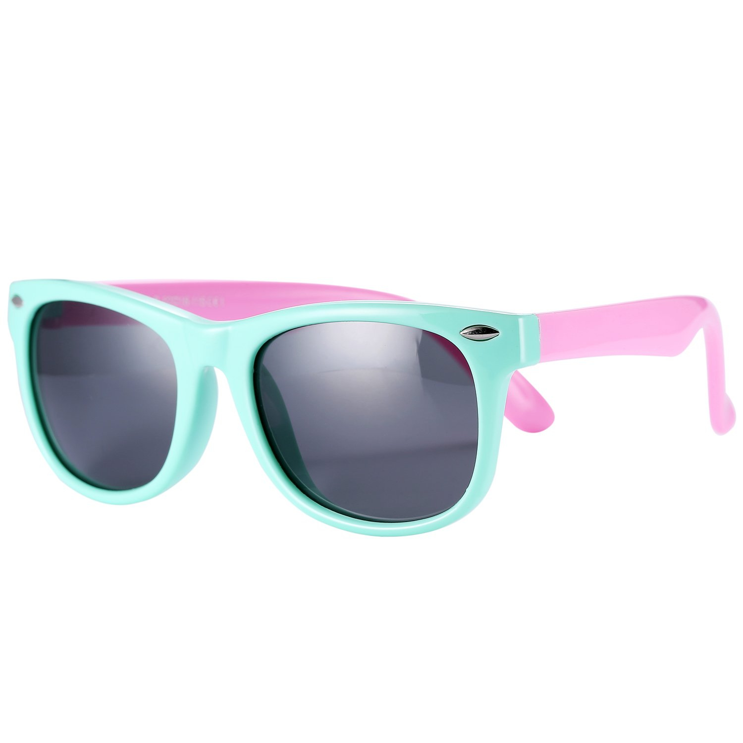 Pro Acme Tpee Rubber Flexible Kids Polarized Sunglasses For Baby And Children Age 3-10 Small Mint Green