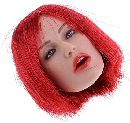 1//6 Female Head Sculpt Red Hair GC017A for 12/'/' Female Figure Doll Phicen