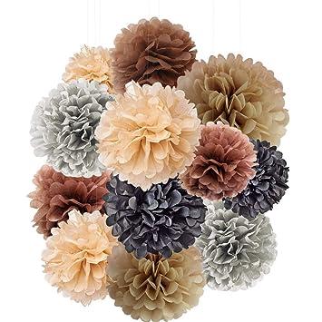 Tissue Paper Pom Pom Decoration (12 Pack)