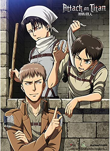 GE Animation Attack On Titan Clean Up Room Wall Scroll