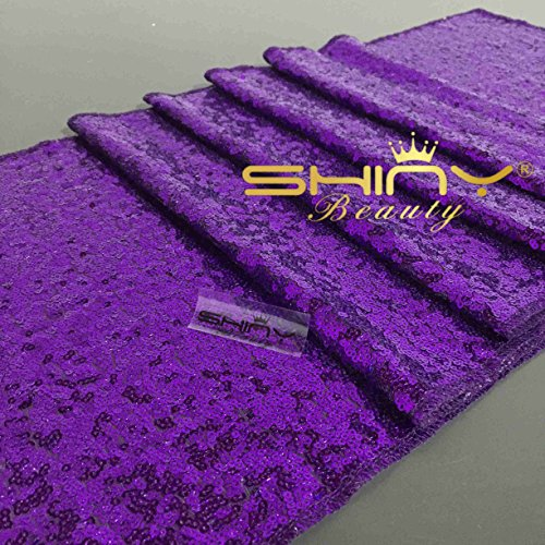 ShinyBeauty Aisle Runner Customize-100ftx4ft,Wedding Aisle Runner Ceremony Decoration Marriage Party Decor Carpet Roll-Purple by ShinyBeauty