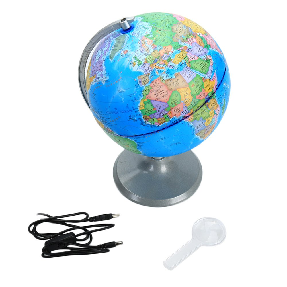 Amazon.com: ZYN Smart World Globe for Kids, Day View World Globe and ...