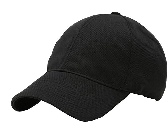 b5d77c1f8a7 Mesh Practice Jersey Runner s Cap Hat (Black) at Amazon Men s Clothing  store  Baseball Caps