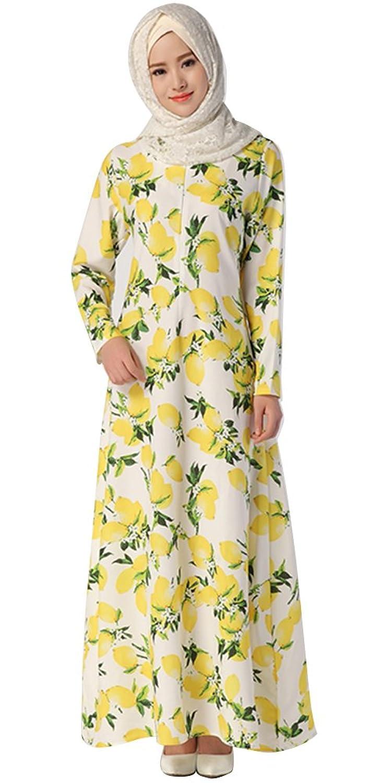 Ababalaya Kaftan Abaya Jilbab Islamic Muslim Women Maxi Dress