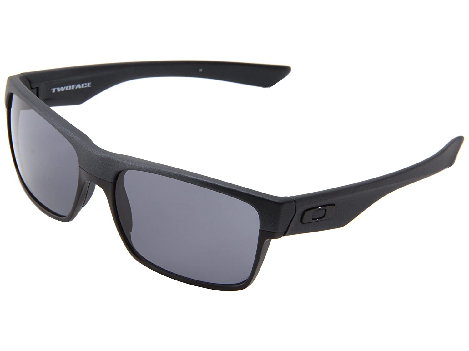 fb1c6559e6f Amazon.com  Oakley Twoface Sunglasses Steel Grey with Grey Lens + Sticker   Shoes