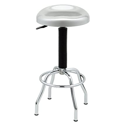 Brilliant Seville Classics Web181 Stainless Steel Pneumatic Contoured Seat Work Stool Caraccident5 Cool Chair Designs And Ideas Caraccident5Info