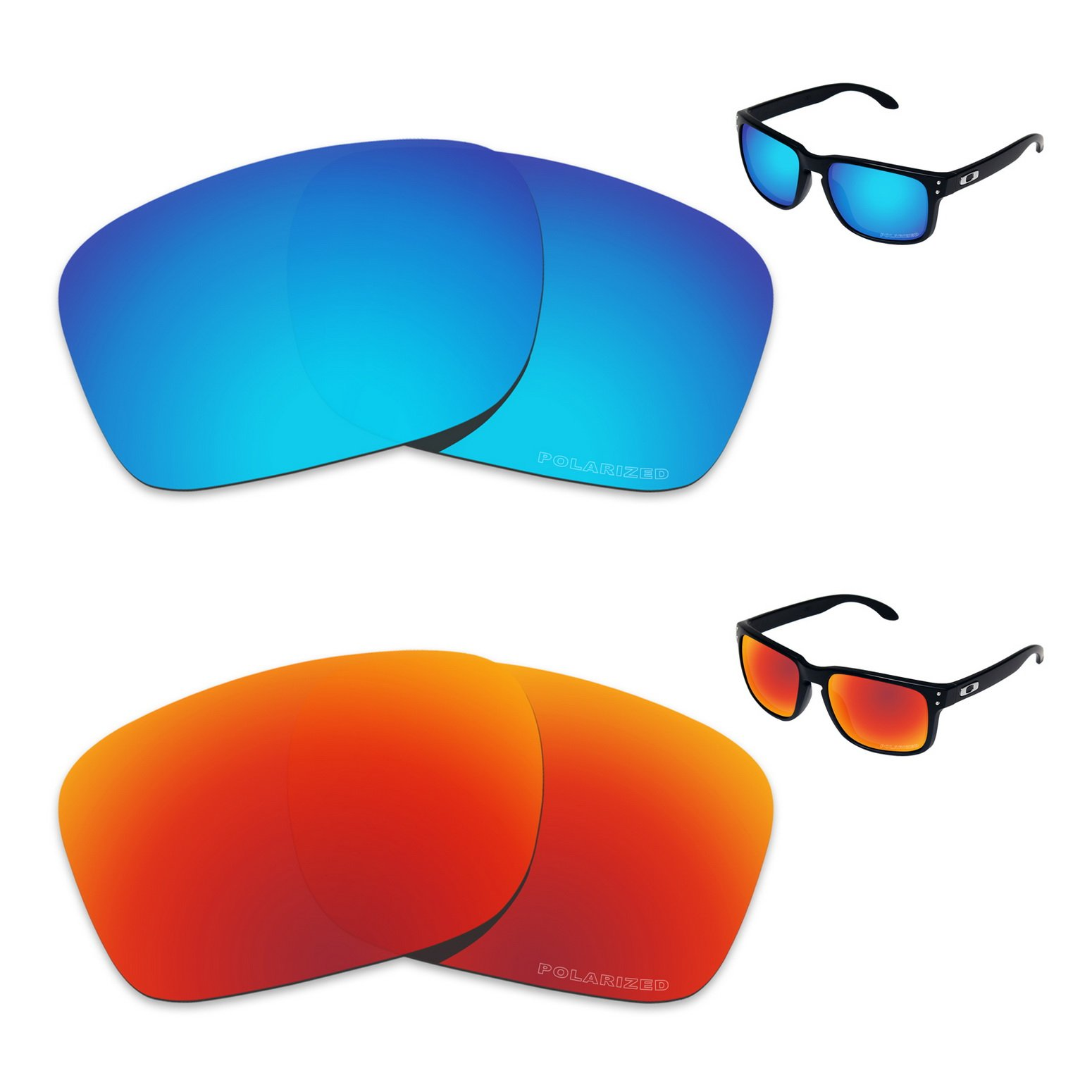 Tintart Performance Replacement Lenses for Oakley Holbrook Polarized Etched - Value Pack