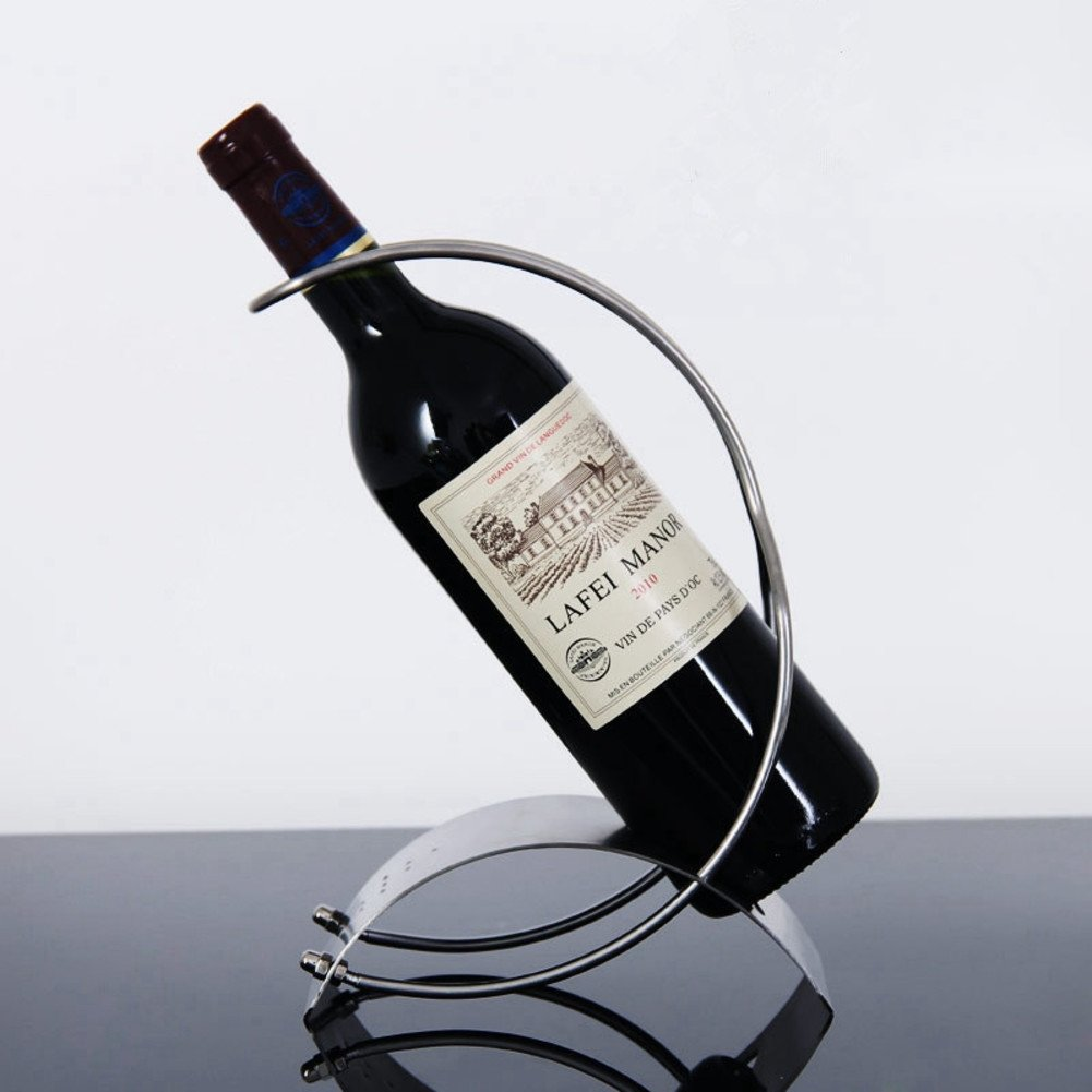 JiaQi Stainless Steel Wine Holder,Creative Wine Bottle Holder,European Style Suspended Stable
