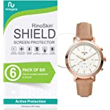 (6-Pack) RinoGear Fossil Hybrid Smartwatch Q Neely Screen Protector Case Friendly Screen Protector for Fossil Hybrid Smartwatch Q Neely Accessory Full Coverage Clear Film