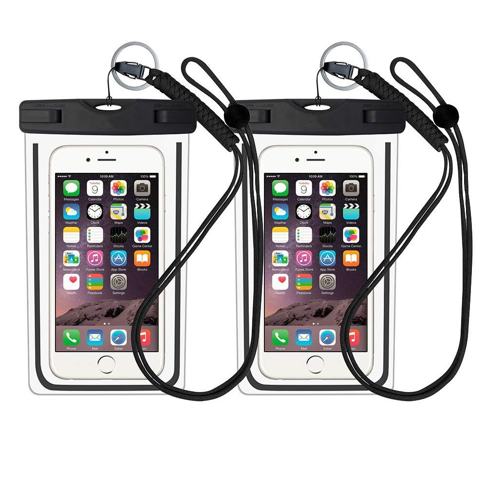 StillCool Universal Waterproof Phone Case 2 Pack IPX8 Waterproof Phone Pouch Dry Bag for iPhone8/8plus/7/7plus/6s/6/6s plus Samsung galaxy S8 And Other Smartphone Up to 7 Inch (Black)