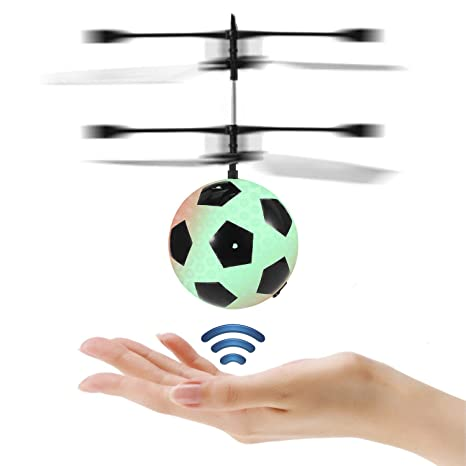 Mysterious Flying Ball Toys Infrared Induction RC Toy for Kids Built-in Rechargeable LED Light Up Disco Helicopter Shining Colorful Drone Indoor and Outdoor Games for Boys and Girls Soccer
