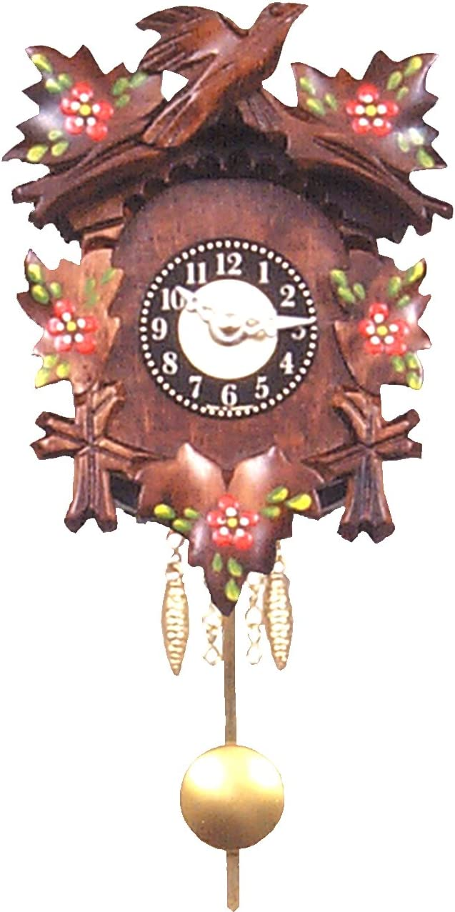 Engstler Christmas Decor Battery-Operated Clock – Mini Size – 5.5 H X 4 W X 2.75 D