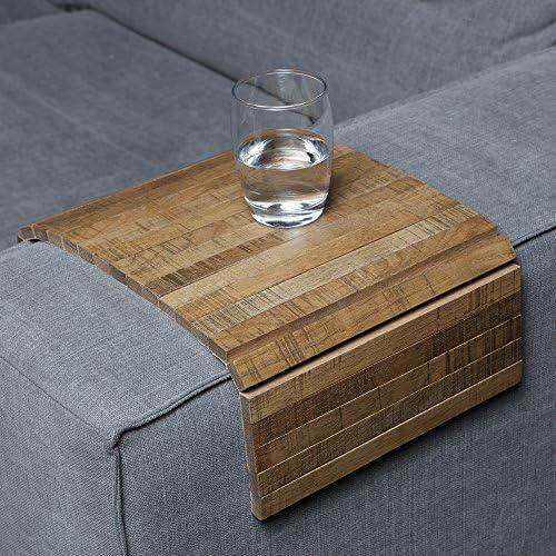 Sofatablett Ablage Eiche Antik In Größe 44 X 24cm Armlehnenschoner Für Couch Amazon De