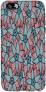 Snoogg Fondo Floral Abstracto Diseñador Protectora Volver Funda Para El Iphone 6