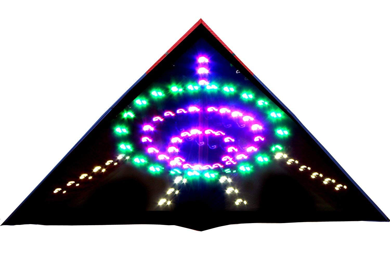 HENGDA KITE 136 LED Night Kite Soft Cloth UFO Flying Saucer Super Bright LEDs Luminous Kite by HENGDA KITE