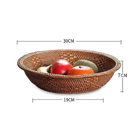 WEEKDEGY Bandeja de Frutas Sala de Estar Plato de Fruta Bandeja de Fruta Snack Storage Basket