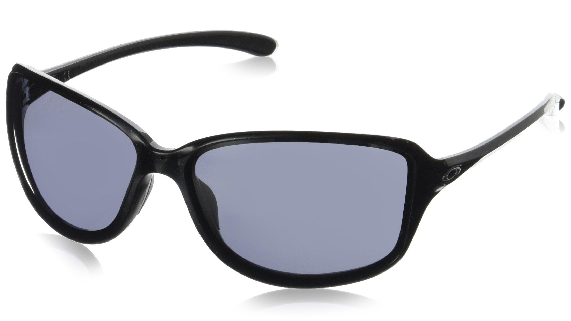Oakley Women's Cohort Rectangular Sunglasses METALLIC BLACK 61 mm