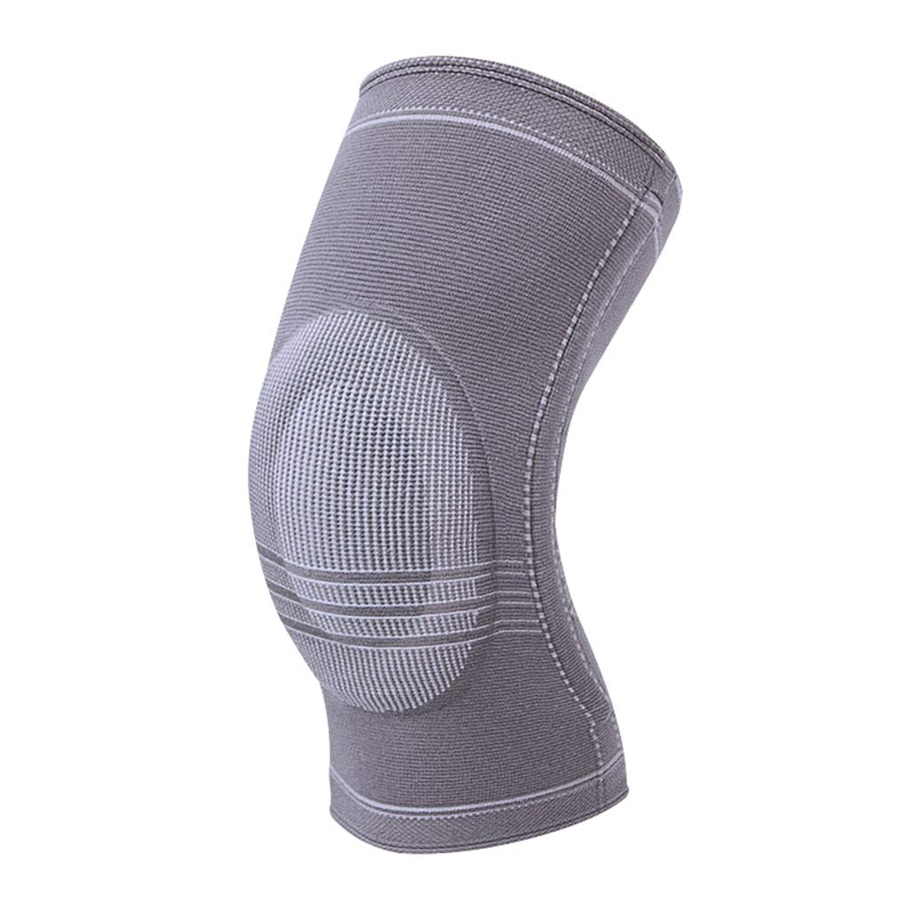 HQCC Basketball Running Badminton Football Riding Protective Gear Outdoor Windproof Knee Pads (Grey) Suitable for Leg Circumference 41.9cm-47cm