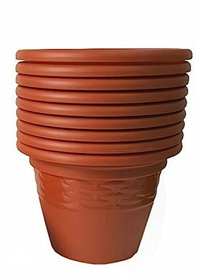 ASFA Deals Plastic Round Lavish Planter 10 inch (Pack of 7)